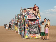 Day 36 of Miami to Alaska Family Road Trip: Cadillac Ranch and the Oddest Restaurant in Texas Thumbnail