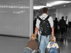 Wordless Wednesday: Kids on luggage ride free Thumbnail