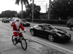 Biker Santa Greetings from Miami Thumbnail