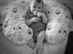Naomi Photo Journal Day 42: Baby in Black and White Thumbnail