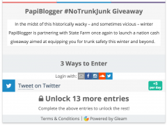 PapiBlogger is teaming up with State Farm for #NoTrunkJunk $250 Gift Card Giveaway Thumbnail